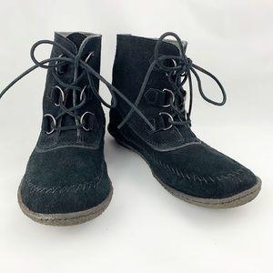 Sorel Joplin II Black Suede Boot sz 10